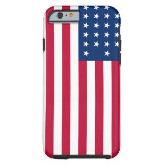 Funda Resistente Para iPhone 6 Caso duro patriótico del iPhone 6 de la bandera