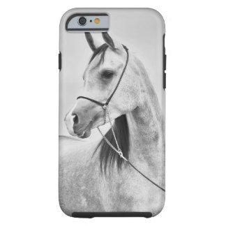 Funda Resistente Para iPhone 6 colección del caballo. gris árabe