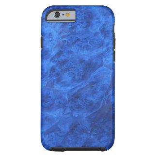Funda Resistente Para iPhone 6 Colmillos ocultados en caja azul del iPhone 6 de