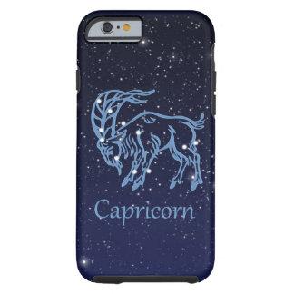 Funda Resistente Para iPhone 6 Constelación del Capricornio y muestra del zodiaco