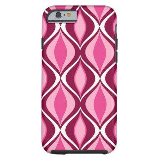 Funda Resistente Para iPhone 6 Diamantes, Borgoña y rosa modernos de los mediados