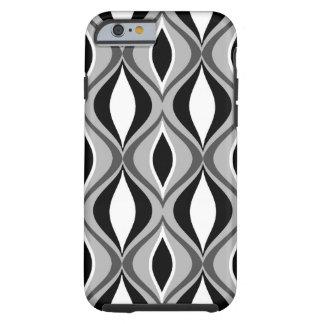 Funda Resistente Para iPhone 6 Diamantes modernos, negro, blanco y gris de los
