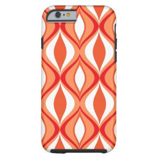 Funda Resistente Para iPhone 6 Diamantes, naranja y blanco modernos de los