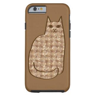 Funda Resistente Para iPhone 6 Gato moderno de los mediados de siglo, beige y