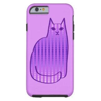 Funda Resistente Para iPhone 6 Gato, orquídea y púrpura modernos de los mediados