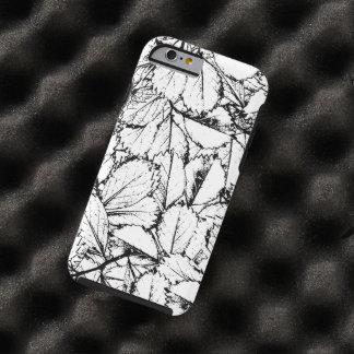 Funda Resistente Para iPhone 6 Hojas del blanco