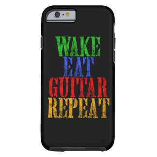 Funda Resistente Para iPhone 6 La estela come la repetición de la GUITARRA