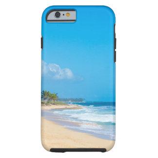 Funda Resistente Para iPhone 6 La playa hermosa del océano, trata las ondas con