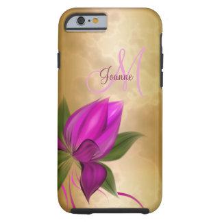 Funda Resistente Para iPhone 6 Mármol floral subió oro