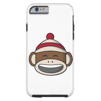 Funda Resistente Para iPhone 6 Mono grande Emoji del calcetín de la sonrisa