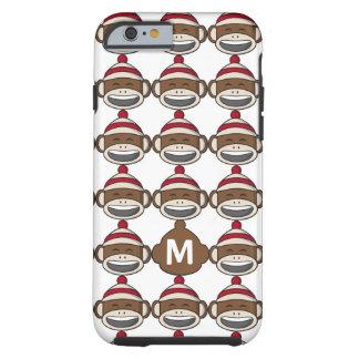 Funda Resistente Para iPhone 6 Mono grande Emoji del calcetín de la sonrisa con