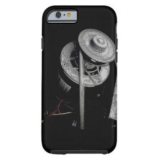 Funda Resistente Para iPhone 6 Motor mecánico de la HVAC del negro del caso de