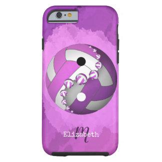 Funda Resistente Para iPhone 6 mujeres púrpuras rosadas del voleibol del yinyang