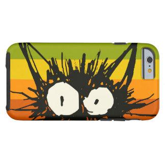 Funda Resistente Para iPhone 6 Naranja del gato del susto colorido