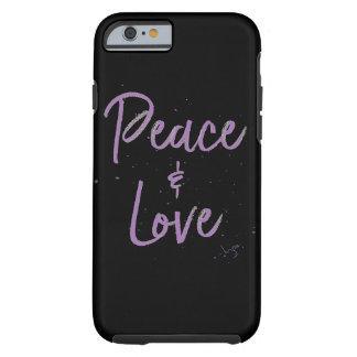 Funda Resistente Para iPhone 6 Paz-y-Amor-Púrpura