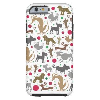 Funda Resistente Para iPhone 6 Perros y caja del teléfono de las bolas