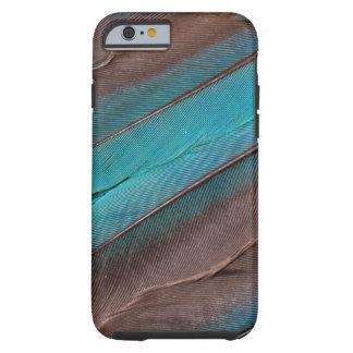 Funda Resistente Para iPhone 6 Plumas del ala del martín pescador