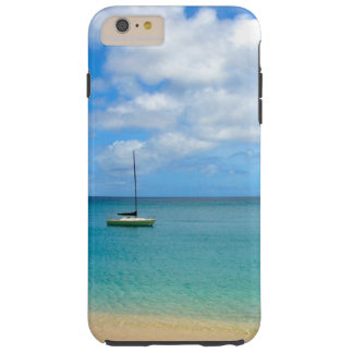 Funda Resistente Para iPhone 6 Plus Agua tropical de la turquesa con el yate