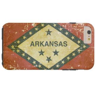 Funda Resistente Para iPhone 6 Plus Bandera patriótica gastada del estado de Arkansas