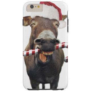 Funda Resistente Para iPhone 6 Plus Burro del navidad - burro de santa - burro santa