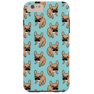 Funda Resistente Para iPhone 6 Plus El cervatillo negro lindo Frenchie de la máscara