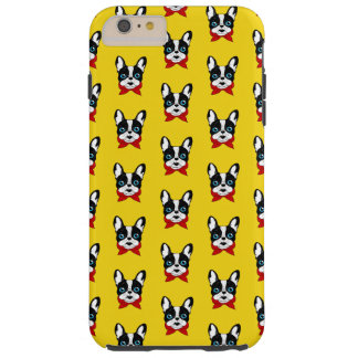 Funda Resistente Para iPhone 6 Plus El explorador lindo de Frenchie está listo para su