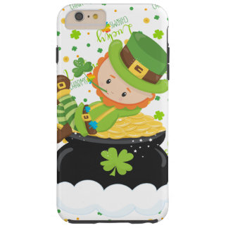 Funda Resistente Para iPhone 6 Plus El Leprechaun del arroz del St