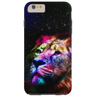 Funda Resistente Para iPhone 6 Plus Espacie el león del _caseSpace del león - león