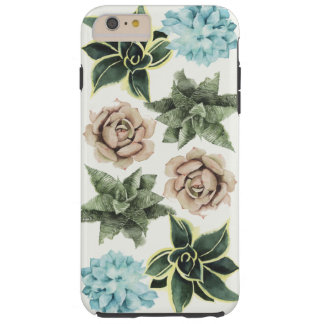 Funda Resistente Para iPhone 6 Plus Fila de Succulents