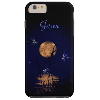Funda Resistente Para iPhone 6 Plus Libélulas personalizadas debajo de la Luna Llena