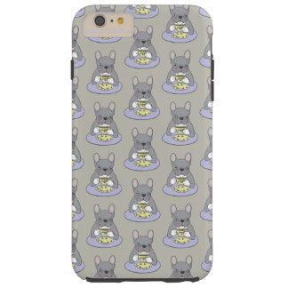 Funda Resistente Para iPhone 6 Plus Meriendas-cenas con Frenchie Brindle azul lindo