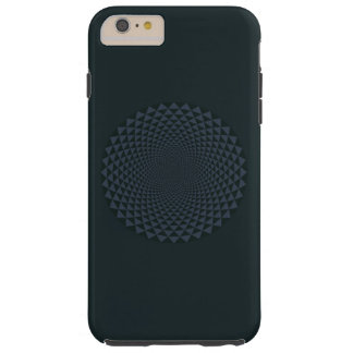 Funda Resistente Para iPhone 6 Plus Mil pétalos Lotus, oscuro