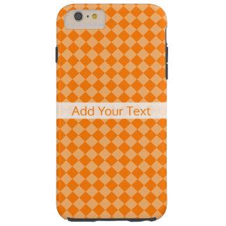 Funda Resistente Para iPhone 6 Plus Modelo anaranjado del diamante de la combinación