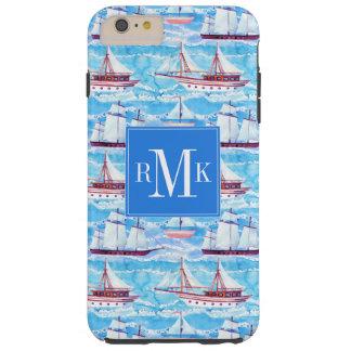 Funda Resistente Para iPhone 6 Plus Modelo de los veleros de la acuarela