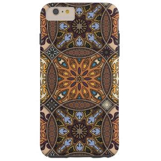 Funda Resistente Para iPhone 6 Plus Remiendo del vintage con los elementos florales de