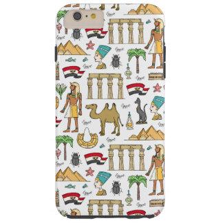 Funda Resistente Para iPhone 6 Plus Símbolos del color del modelo de Egipto