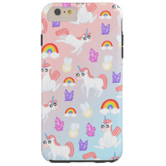 Funda Resistente Para iPhone 6 Plus Unicornios de Doopy