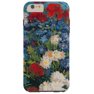 Funda Resistente Para iPhone 6 Plus Van Gogh y Elizabeth florece - la caja más del
