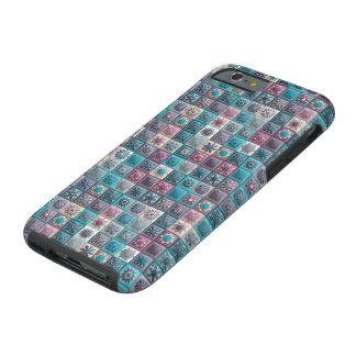 Funda Resistente Para iPhone 6 Remiendo del vintage con los elementos florales de