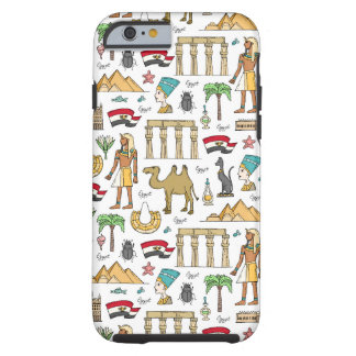 Funda Resistente Para iPhone 6 Símbolos del color del modelo de Egipto