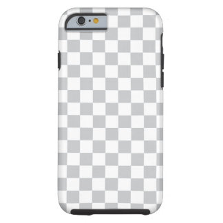 Funda Resistente Para iPhone 6 Tablero de damas gris claro