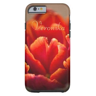 Funda Resistente Para iPhone 6 Tulipán rojo