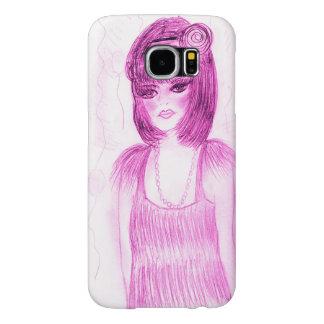 Funda Samsung Galaxy S6 Aleta de la chica marchosa en rosas fuertes