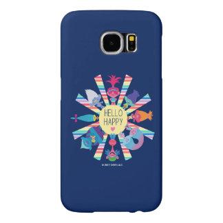 Funda Samsung Galaxy S6 Arco iris Sun del paquete del bocado de los