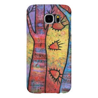 Funda Samsung Galaxy S6 Arte caprichoso del árbol colorido de la paz