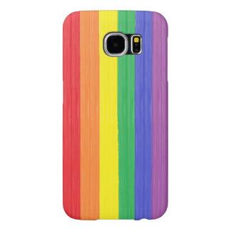 Funda Samsung Galaxy S6 Bandera pintada del arco iris
