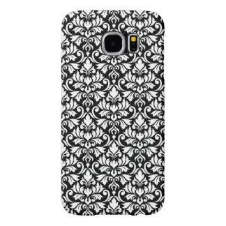Funda Samsung Galaxy S6 Blanco del modelo del damasco del Flourish en