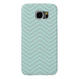 Funda Samsung Galaxy S6 Caja del teléfono de Chevron de la aguamarina de
