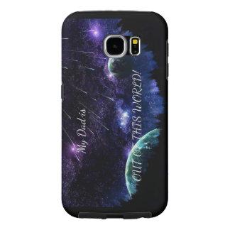 Funda Samsung Galaxy S6 Caso del espacio del papá