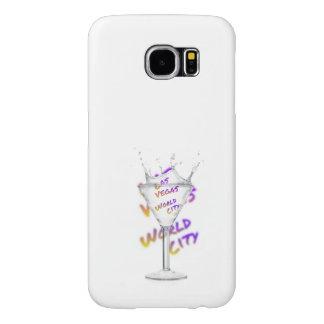 Funda Samsung Galaxy S6 Ciudad del mundo de Las Vegas, vidrio de agua